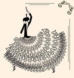 Image of dancer flamenco vector