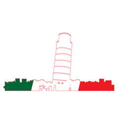 Isolated cityscape of pisa vector