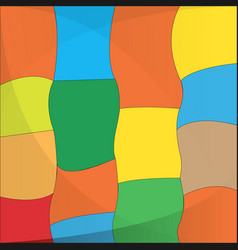 isolated colored background vector image
