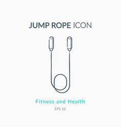 Jump rope icon on white background vector