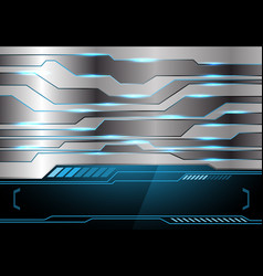 metal blue light technology black monitor vector image vector image