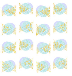 pattern triangles blue both circles a scribble vector image