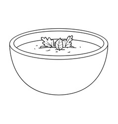 Porcelain tureen with the soupvegetarian soup vector