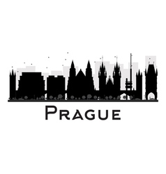 Prague silhouette vector
