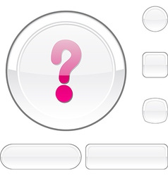 Question white button vector