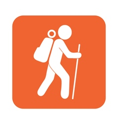 Hiking icon vector