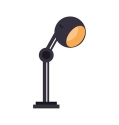 lamp bulb light office icon vector image