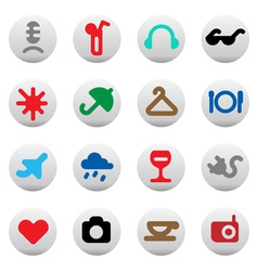Buttons for leisure and hotel services vector image