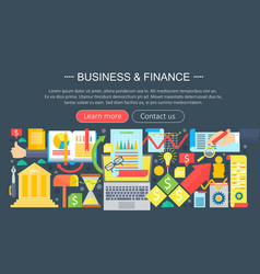Business and finance flat icons concept business vector