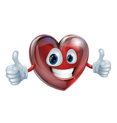 heart mascot graphic vector image