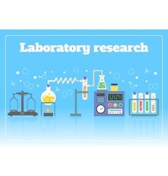 Laboratory research concept vector