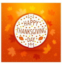 Thanksgiving day label vector