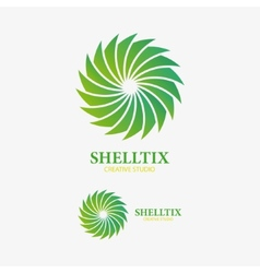 Logo design element abstract sink shell vector