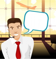 call center worker vector image