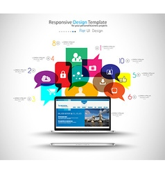 Modern cloud globals services concept background vector