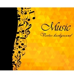Music backgound musical notes - vector
