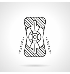 Knee protector flat line icon vector