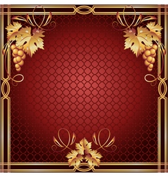 Background with golden frame vector