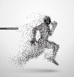 People running particle divergent composition vector
