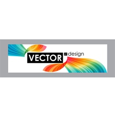 Colorful banner with bright flow elements vector