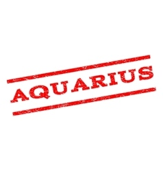 Aquarius Watermark Stamp vector image vector image