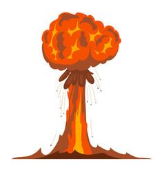 Atomic explosion icon cartoon style vector