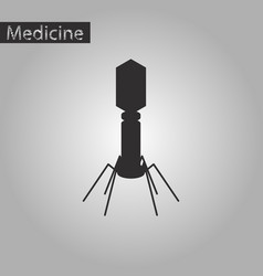 Black and white style icon of bacteriophage vector