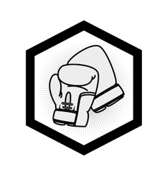 Boxing gloves equipment icon vector
