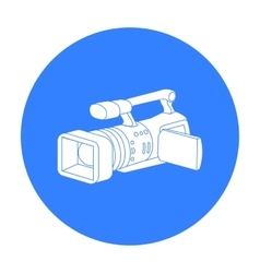 Camcorder icon in black style isolated on white vector