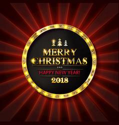 christmas banner with light bulbs vector image