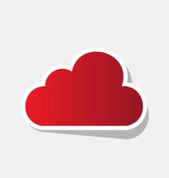 cloud sign new year reddish vector image