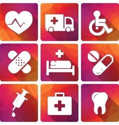 Creative concept Flat Icons of medical vector image