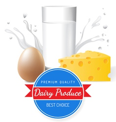 dairy produce vector image vector image