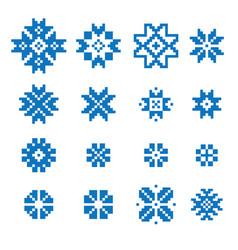 Ethnic geometric signs set vector