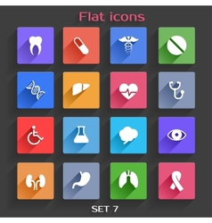Flat application icons set 7 vector
