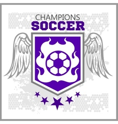 Football Soccer Badge Patch and Emblem for sport vector image