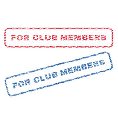 for club members textile stamps vector image