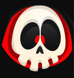 Grim reaper cartoon face vector