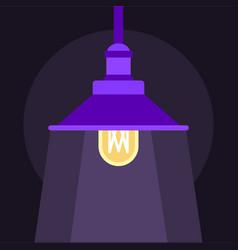 Hanging lantern icon flat style vector