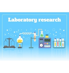 Laboratory research concept vector image