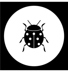 ladybug animal symbol simple black icon eps10 vector image