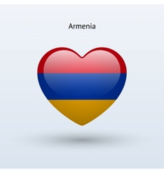 Love armenia symbol heart flag icon vector