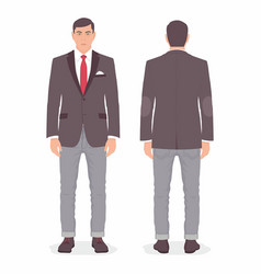 man front and back views vector image