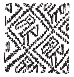 Peruvian animal motive have zig zag line pattern vector