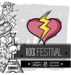 rock festival event music concert vector image
