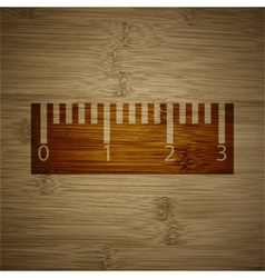 Ruler icon symbol Flat modern web design with long vector image