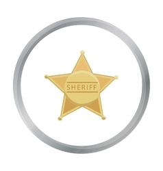 Sheriff icon cartoon singe western icon from the vector
