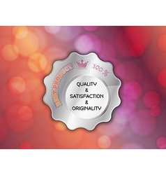 Silver best product stamp vector