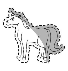 unicorn cartoon icon vector image vector image