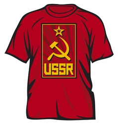 ussr t-shirt vector image